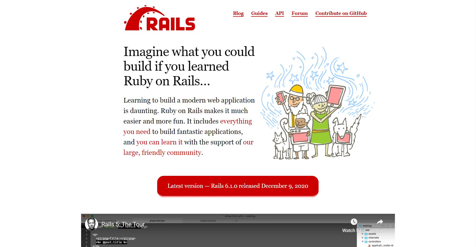 Ruby on rails Landing page
